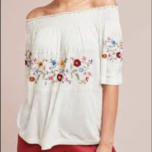 Anthropologie Ranna Gill embroidered blouse
